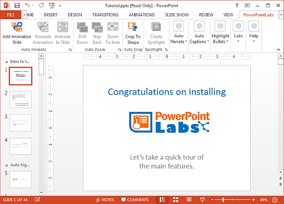 PowerPoint labs add-in