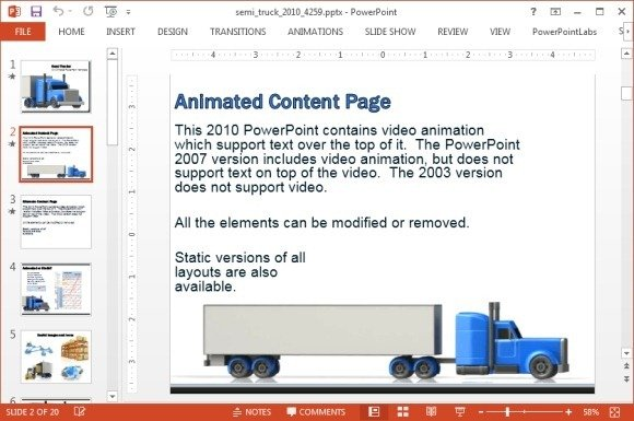 Transport presentation template