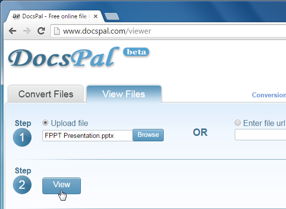 Upload files to DocsPal