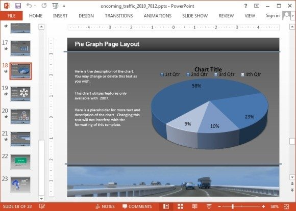 Animated charts slide with video animation