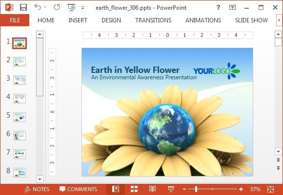 Animated earth flower powerpoint template fppt toneelgroepblik Image collections