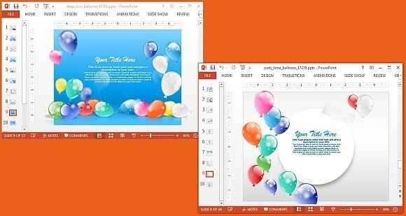 Animated party PowerPoint templates