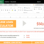 college loan calculator for excel