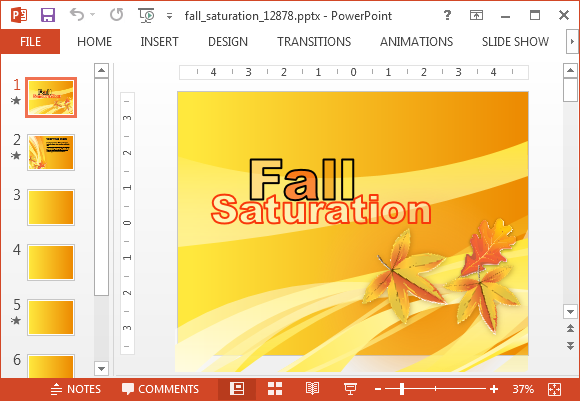 Fall festivals PowerPoint template