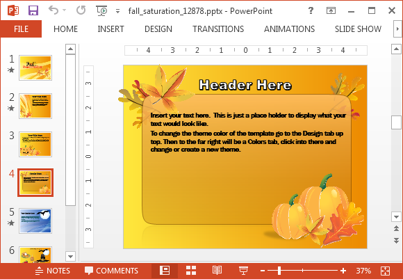 Fall festivals template for PowerPoint