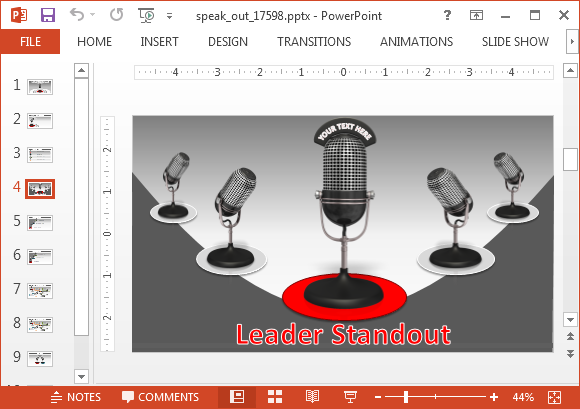Mic slide backgrounds for PowerPoint