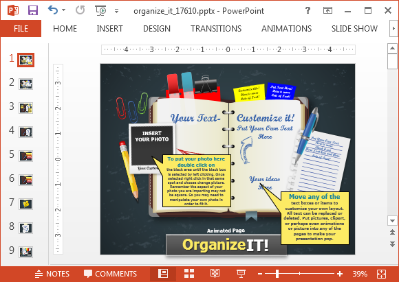 Organize it PowerPoint template