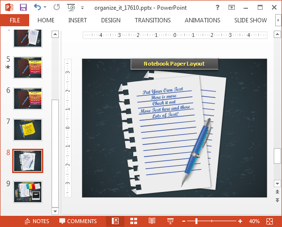 Paper PowerPoint background