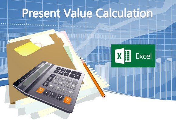 Present value calculation in Microsoft Excel