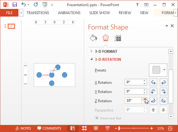 Rotate Shape To Create Cpm Diagramg Fppt
