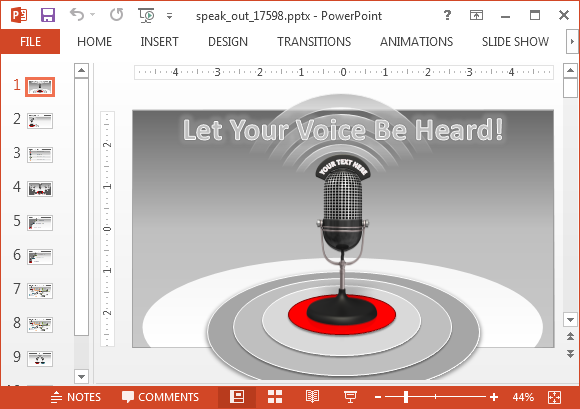 Speak out animated PowerPoint template