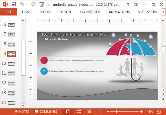 Umbrella bullet points