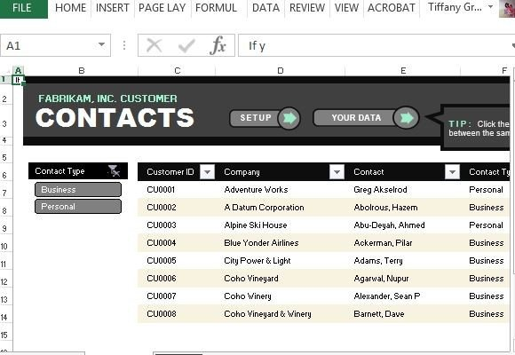 Customer contact list template for excel for Project management contact list template