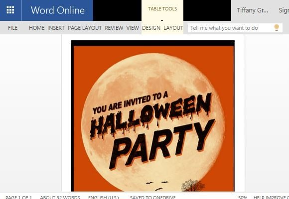 halloween flyer word template