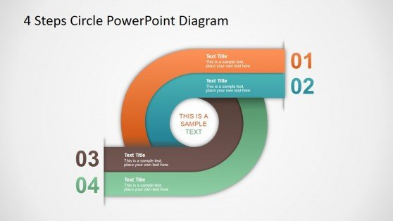 4 Steps circle diagram template for PowerPoint