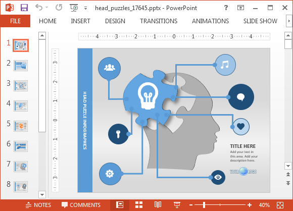 animated mind map powerpoint template, Modern powerpoint