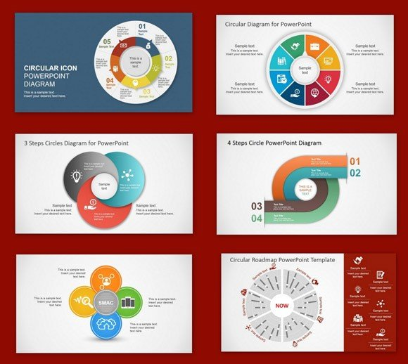 Best circular diagrams templates for presentations for Most professional powerpoint template