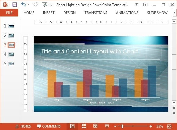 Chart layout with lighting slide design