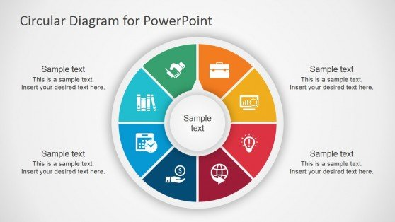 Circular diagram template for PowerPoint