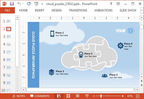 Cloud backup slide design