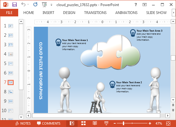 Animated cloud puzzle powerpoint template cloud computing template for powerpoint toneelgroepblik Images