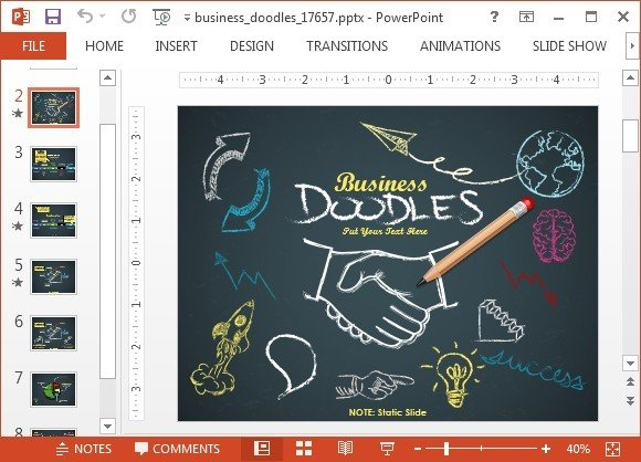 Doodles animated business doodle timeline template for powerpoint toneelgroepblik Image collections