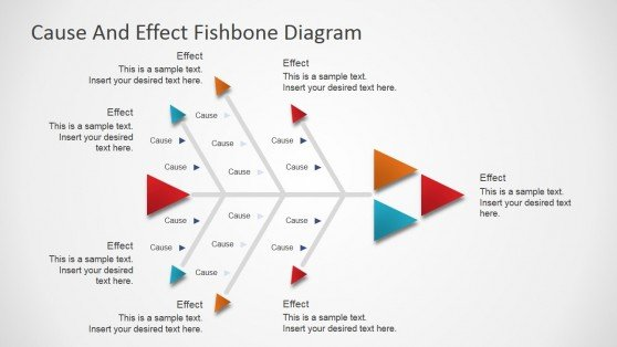 Best fishbone diagrams for root cause analysis in powerpoint flat fishbone diagram for powerpoint ccuart Images