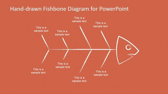 Hand-drawn fishbone diagrams template for PowerPoint