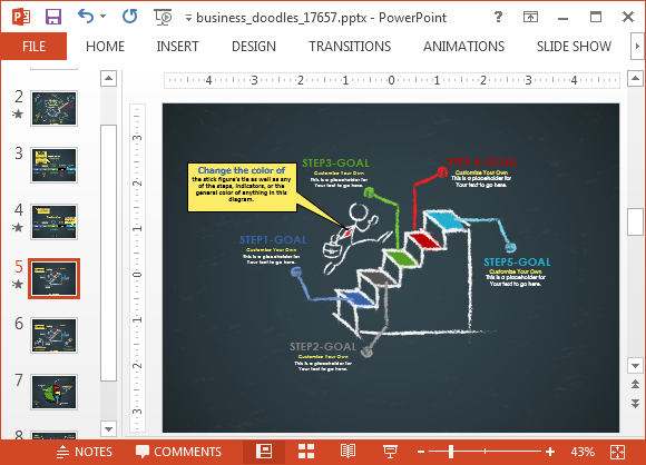 Animated business doodle timeline template for powerpoint powerpoint doodle template the animated slides include two timeline toneelgroepblik Image collections
