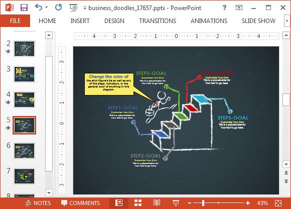 Animated business doodle timeline template for powerpoint powerpoint doodle template the animated slides include two timeline toneelgroepblik Images