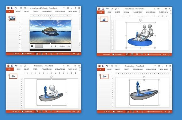 Sinking in water animations for powerpoint toneelgroepblik Images
