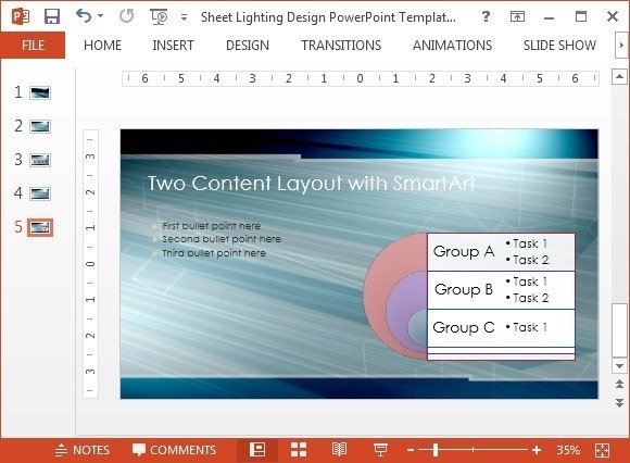 SmartArt two content layout