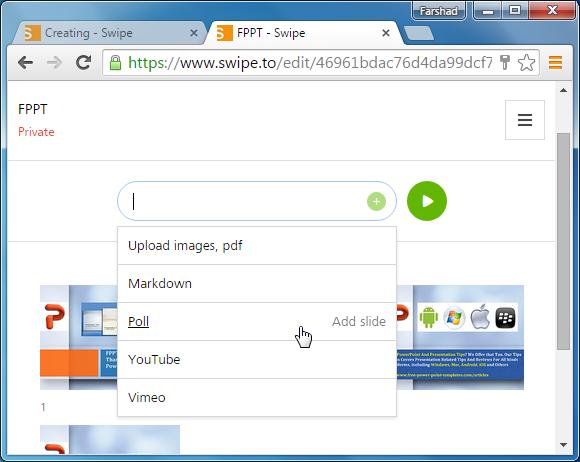 Upload files to Swipe