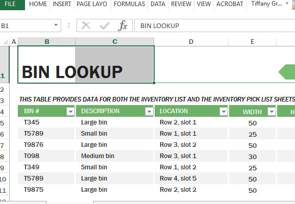 Warehouse Inventory Excel Template. Worksheet. Inventory Worksheet At Clickcart.co