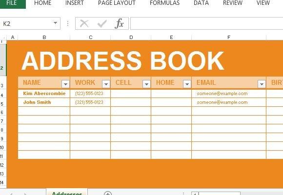 digital address book