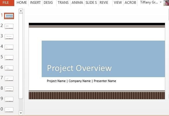 project overview template  Project Overview PowerPoint Template
