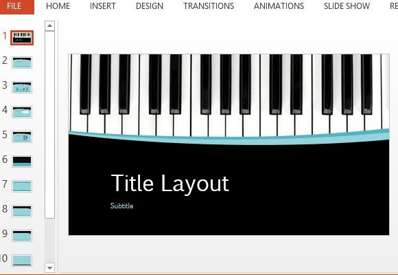 Musical curves powerpoint template toneelgroepblik Choice Image