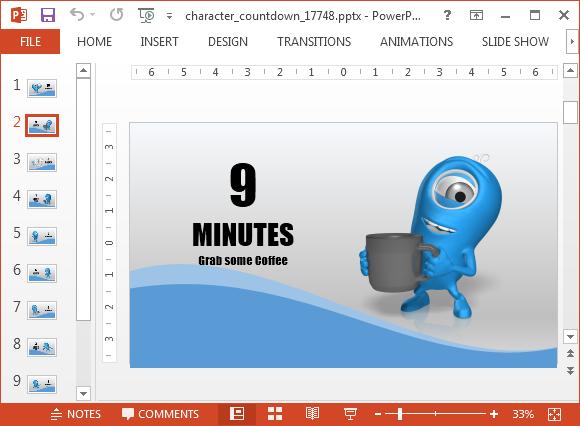 Automatically switching slides