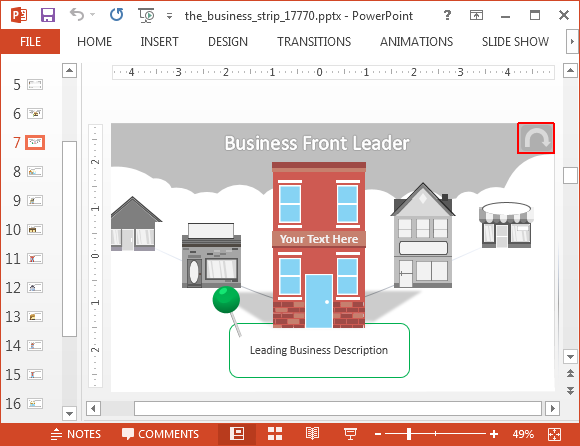 Business strip layout for PowerPoint