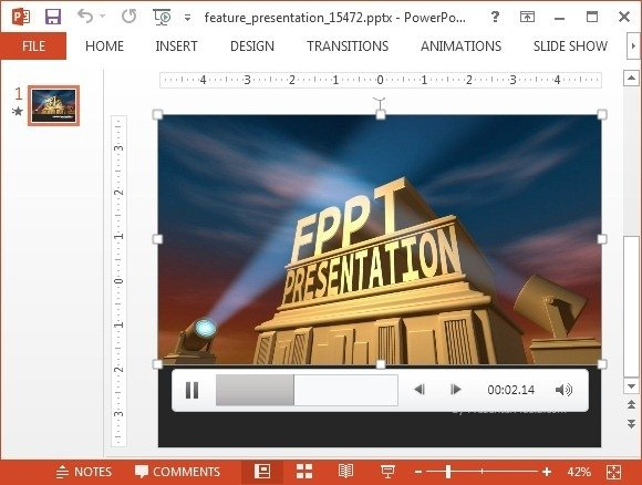 Animated featured presentation powerpoint template fppt video animation with custom text toneelgroepblik Choice Image
