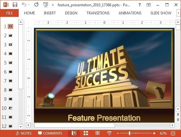 Animated Featured Presentation Powerpoint Template