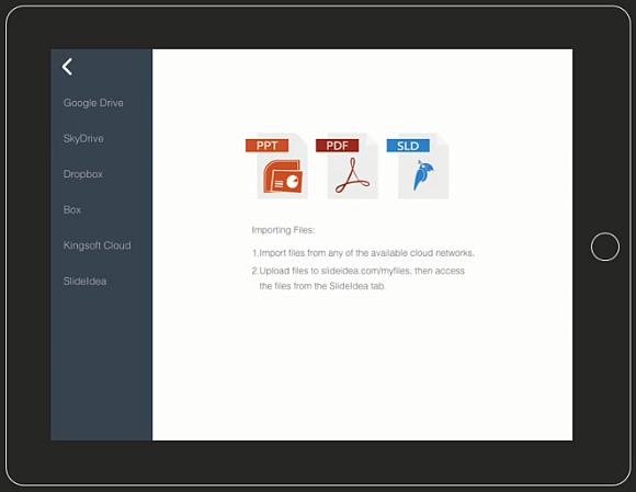 Import files to create SlideIdea slides