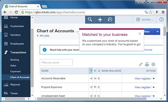 Managing transactions in QuickBooks Online