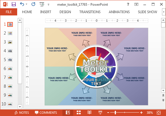 Meter toolkit presentation template for PowerPoint