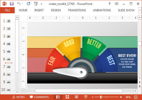 Meter toolkit template for PowerPoint
