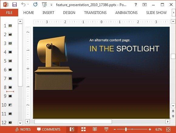 Spotlight content slide