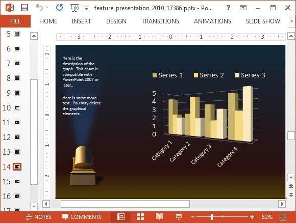 Spotlight with bar chart