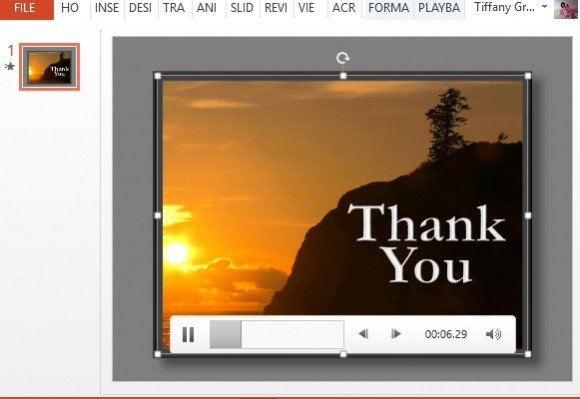 thank you powerpoint template with sunset video, Modern powerpoint