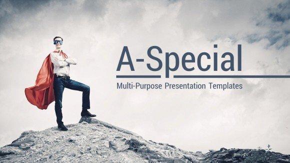 A special award winning Keynote template