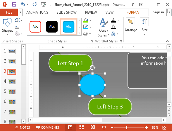 Add remove shapes in funnel diagram